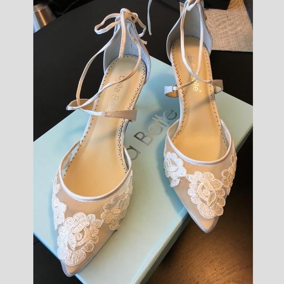 6e6abc1a1ab Bella Belle Shoes - Bella Belle Kitten Heel Lace Amelia Wedding Shoes